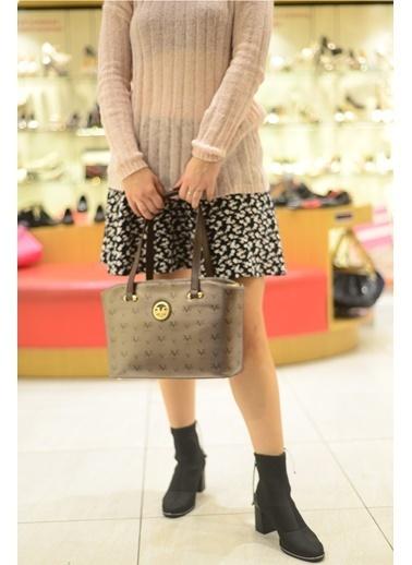 Versace 16V69 Italia 5502 Platın Kadın Omuz Çanta Gri